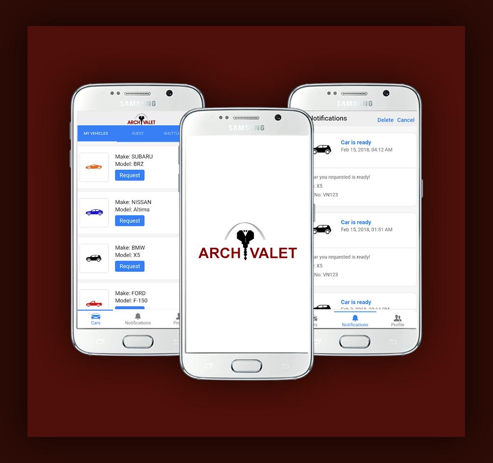Archvalet App Valet parking app