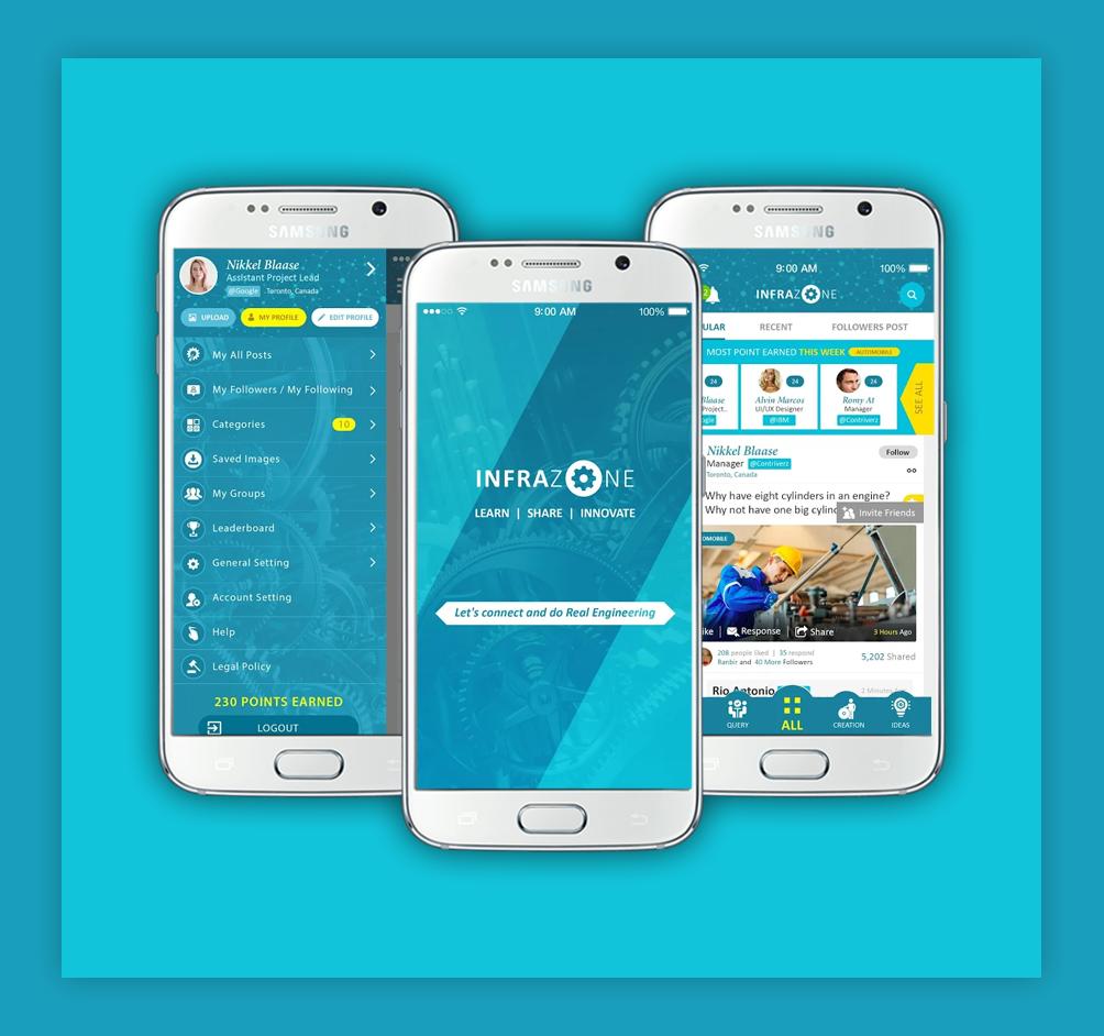 Infrazone App Social Media App for employees