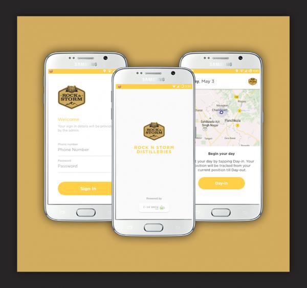 Rock & Storm Distilleries App track recording app for business